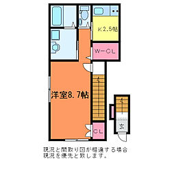 天神2丁目 新築AP[2階]の間取り