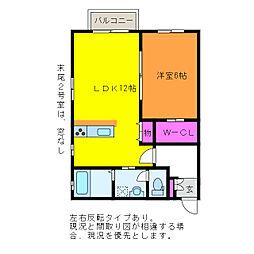サクシード鐙[2階]の間取り