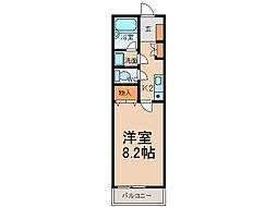 ラビングU[2階]の間取り