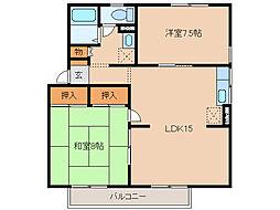 エステートプラムC棟[2階]の間取り
