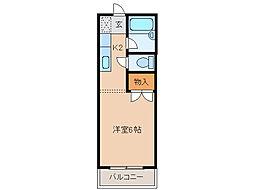 オリーブハウスII[1階]の間取り