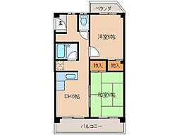 長福荘[2階]の間取り