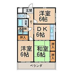 サンヴィレッジS・TII[3階]の間取り