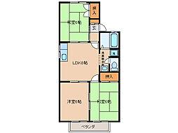 タウンKOSE2棟[1階]の間取り