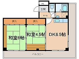 長平閣[3階]の間取り