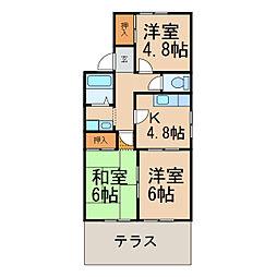 ドルフィン安田[1階]の間取り