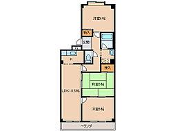 セントラルマンションIII[3階]の間取り