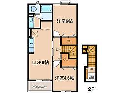 チェリーアヴェニュー2[1階]の間取り