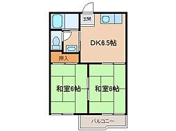 フォーブル野田[1階]の間取り