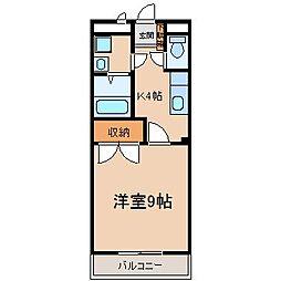 スクウェア市之久田[1階]の間取り
