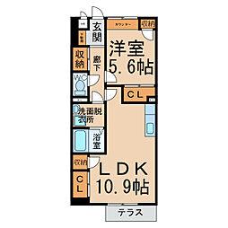 エントピアA・B[2階]の間取り