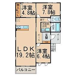 パステール・K[2階]の間取り
