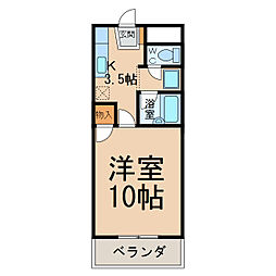 グリーンベル(間々)[1階]の間取り