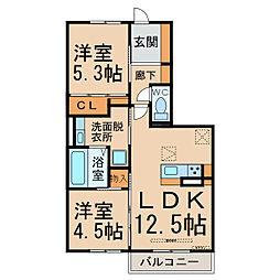 仮)D-room京和風枩浦様[1階]の間取り