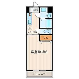 エスプリ[3階]の間取り