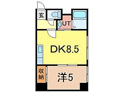 エスティ618 4階1DKの間取り