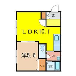 アスレSK2[1階]の間取り