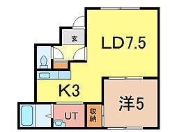 ロベール東光[1階]の間取り