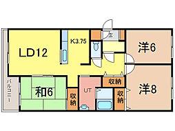 フォルテ21[1階]の間取り