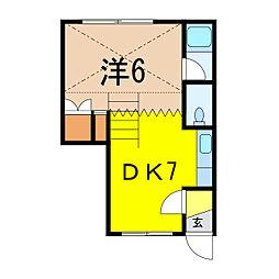 フローレンスミキB館[2階]の間取り