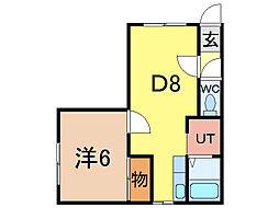 ワンダーハイツ[1階]の間取り