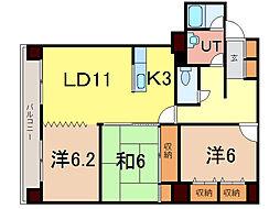 エンドレス55[4階]の間取り
