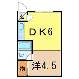 ビブレ2条通[1階]の間取り