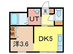 エンドレス17 B棟[6階]の間取り