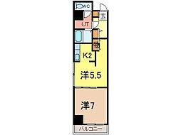 ノルテ1条通弐番館[6階]の間取り