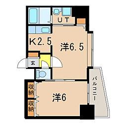 ノルテ6条弐番館[6階]の間取り