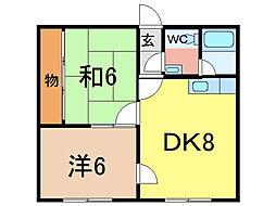 エステート宮下24[2階]の間取り
