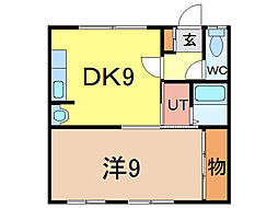 タウンズ211[2階]の間取り