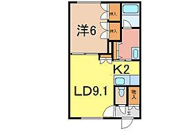 シント永山[2階]の間取り