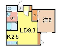 セジュール9・9[1階]の間取り