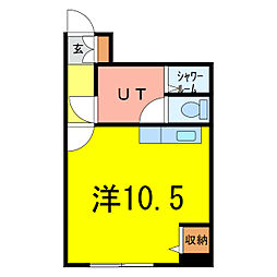 セクション103[3階]の間取り