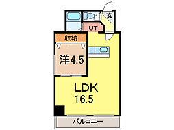 大成5・14ビル[8階]の間取り