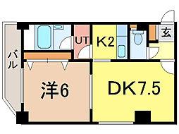 ナッツSPIRIT2[3階]の間取り