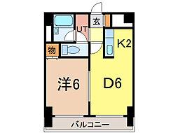 ナッツSPIRIT2[6階]の間取り