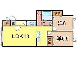コムハウス4[1階]の間取り