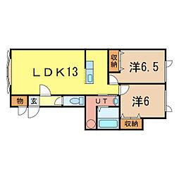 コムハウス4[2階]の間取り