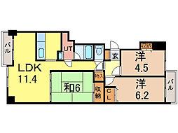 旭川グランドハイツ[7階]の間取り