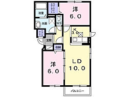 ラフィナートII[2階]の間取り
