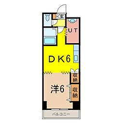 ビッグバーンズマンション[3階]の間取り