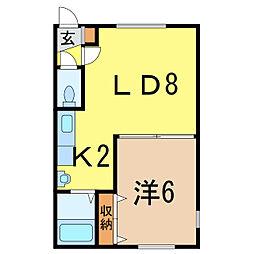 シンフォニーミキA館[2階]の間取り