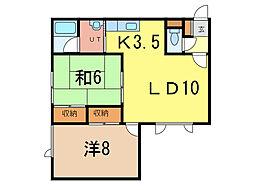 ウォーム713[1階]の間取り