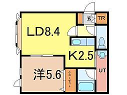ロワールB[1階]の間取り