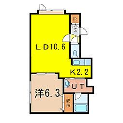 RelacheII[1階]の間取り