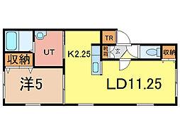 XMHU(ムー)[2階]の間取り