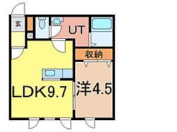シェルト716[1階]の間取り
