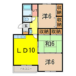 カムイ24B[2階]の間取り